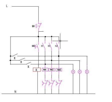 电机自锁控制电路