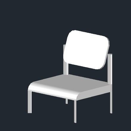 跪求一个椅子的cad三视图和3d效果图 在线等!