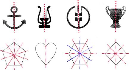 画出下面图形的对称轴图片