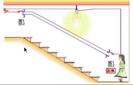 楼梯灯的接线方法图