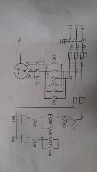 行程开关控制步进电机位置限制接线图