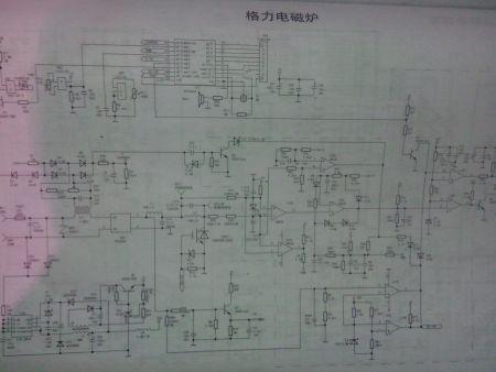 求格力电磁炉 gc_20xca电路图
