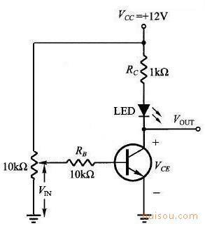 图5,简单开关三极管电路图 图6,改良三极管开关电路