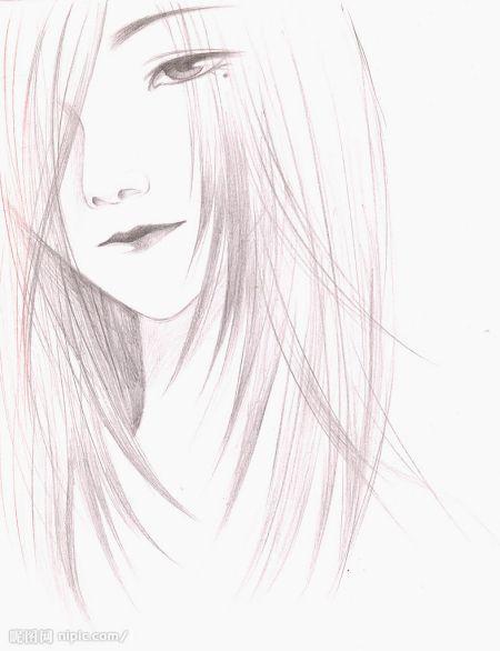 求素描的铅笔画 ,就像黑白漫画的那种效果~安静的感觉