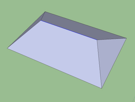 用sketchup8画四坡教程?l36h卡屋顶换图片