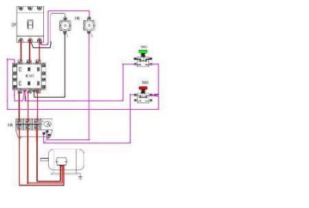 220v交流接触器实物接线图是什么样?