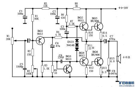 两个3dd15功放电路图