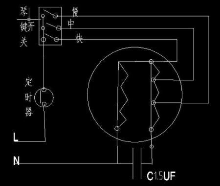单相电风扇电机绕组接线图