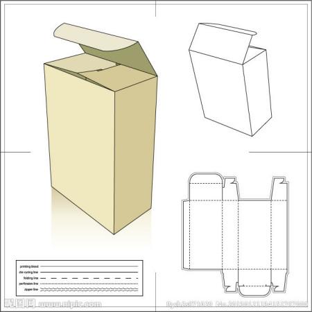 纸箱的平面图,怎么画