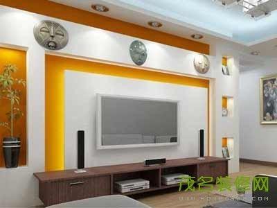 我家的电视墙是5*3米的,应该怎么装修,全贴壁纸好看吗