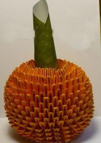 用纸折菠萝笔筒 叶子怎么插
