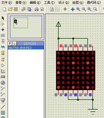 led点阵在proteus有4种,见下图,所在的类别及4种的名称 这个图,是它