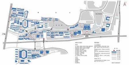 济南大学西校区平面图