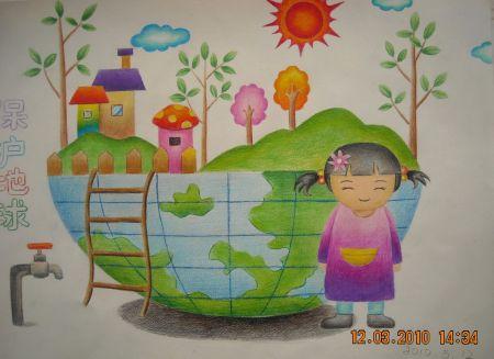 环保儿童画作品图片