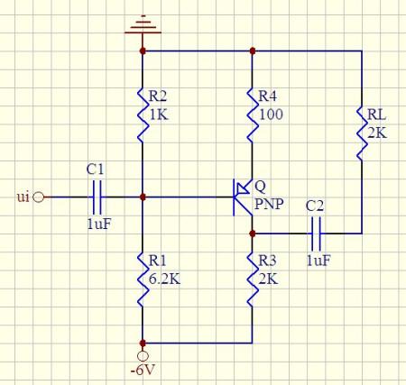 三极管pnp放大10倍的电路图