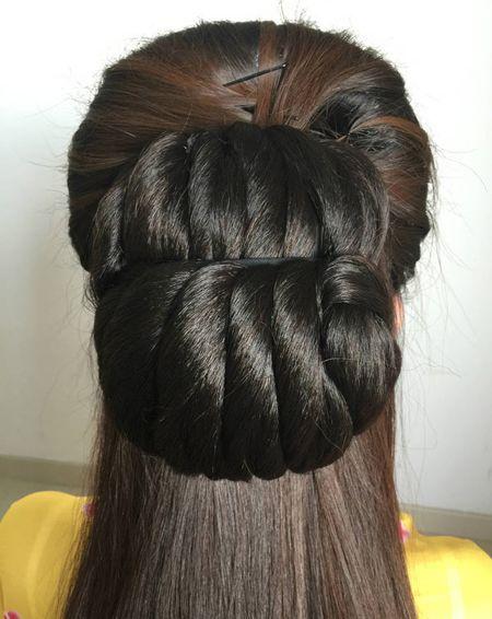简易发型教程美女图骤古风身体v简易调教成女犬图片