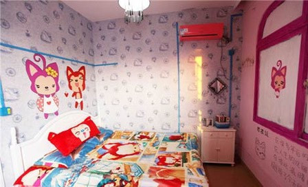 可爱阿狸式女孩房间图片.
