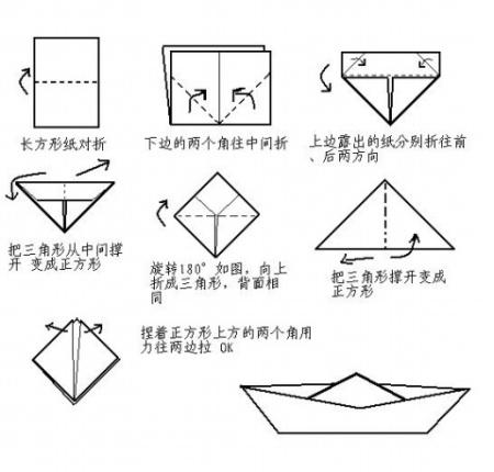 船怎么折图解