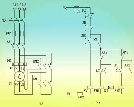 请问星三角降压启动电路的接线图是什么?