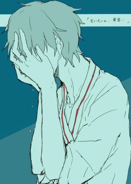 求动漫男的在哭泣看起来很伤感的图片,可以做头像的.
