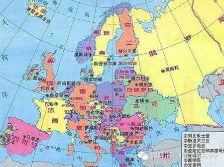 比利时,法国,意大利,荷兰,英国是不是离的很近图片