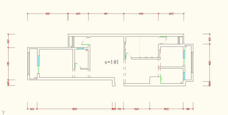 长13米宽10米房子设计图,一楼3室一厅,一个卫生间,建2