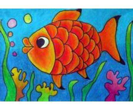 儿童简笔画金鱼图什么颜色