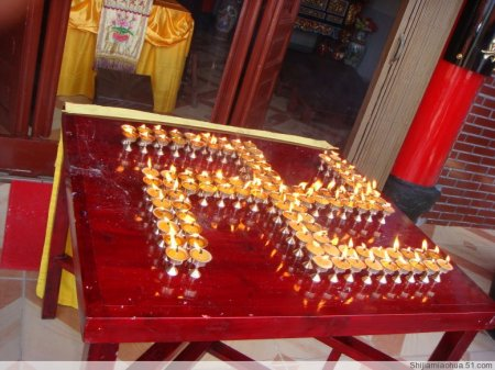 佛教万字灯的摆法图片
