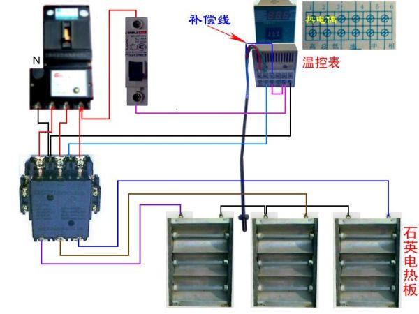 温控器怎么接双相220v交流接触器,正泰cjx2-2510的,最