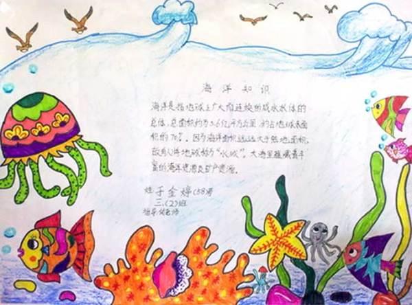 海底世界简单手抄报