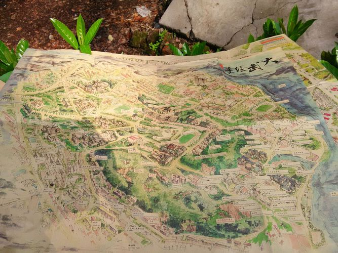 武大手绘地图图片