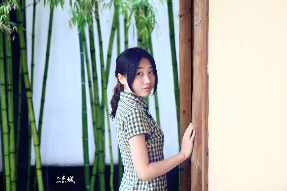 最喜欢竹子.还有刚买的旗袍.图片