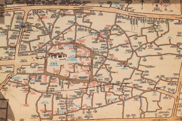 粮道街手绘美食地图
