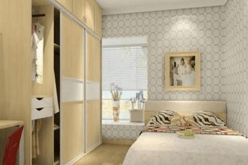 卧室衣柜装修效果图-电视背景壁纸效果图