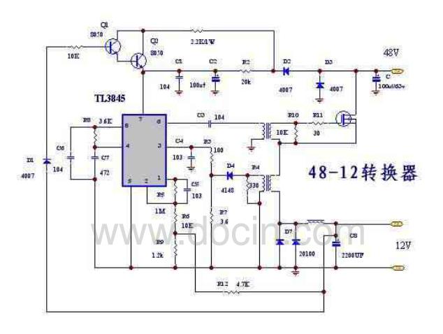 电动车48v转12v的方法?