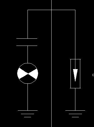 cad电气图符号一个电容一个灯泡类似符号一个接地加避雷器,左边的符号