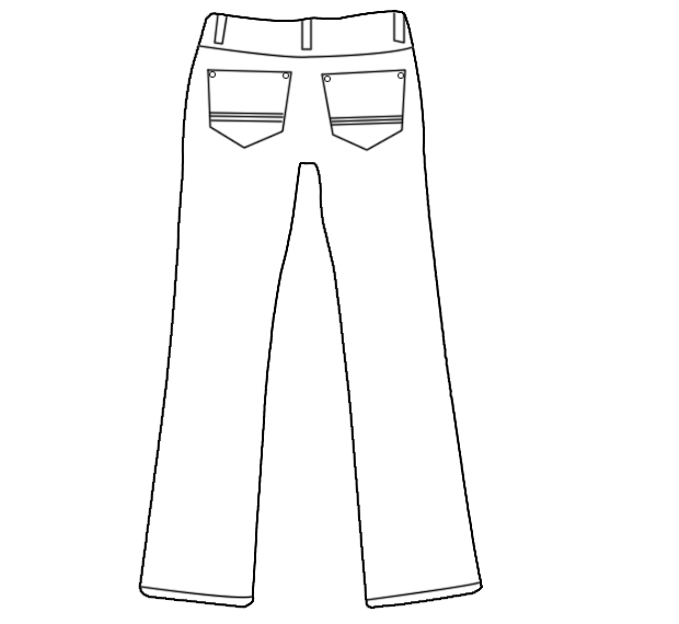 求5张用ps画的裤子款式图 正反面都需要