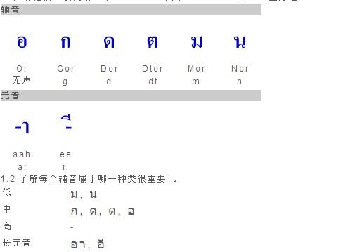 请问哪位有泰语的音标(教字母发音)?
