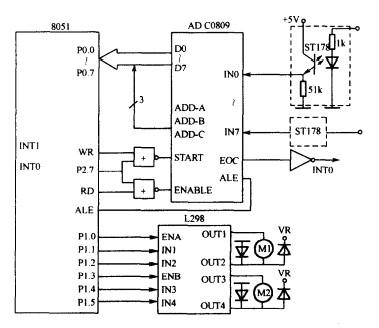 帮忙看下 单片机-电机控制电路图, 看都需要哪些元件