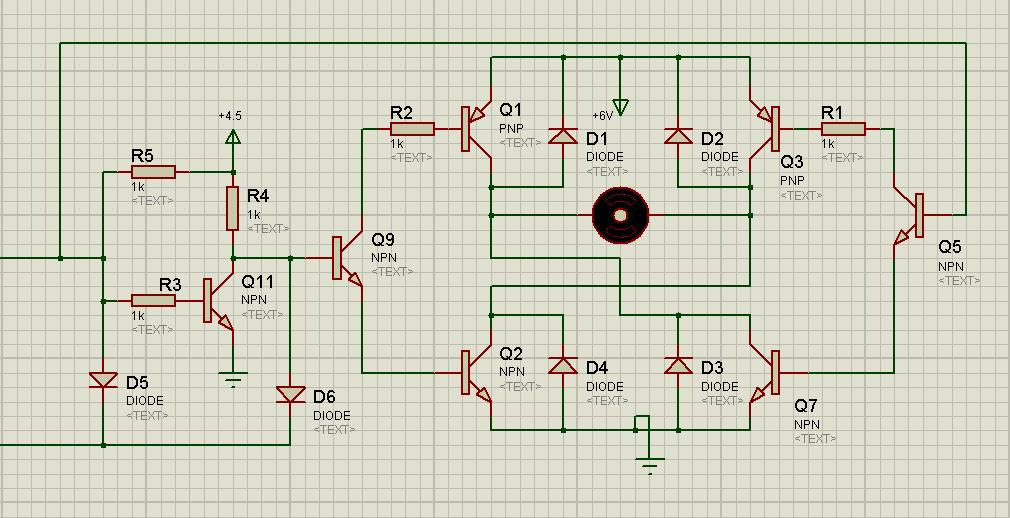 单片机:at89c51 电动机:6v~12v 要求:正反转,停转,刹车(没有也罢) 本