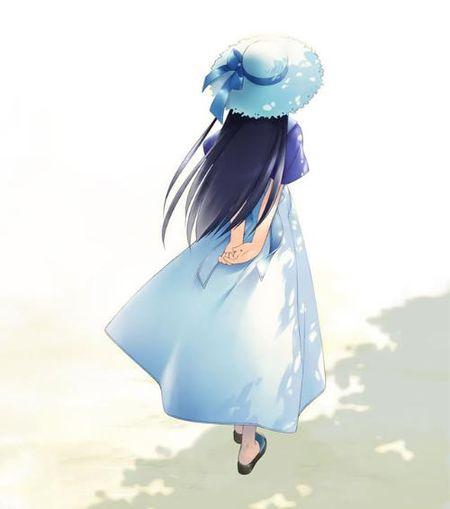 彩铅女孩背影图片 小说封面素材