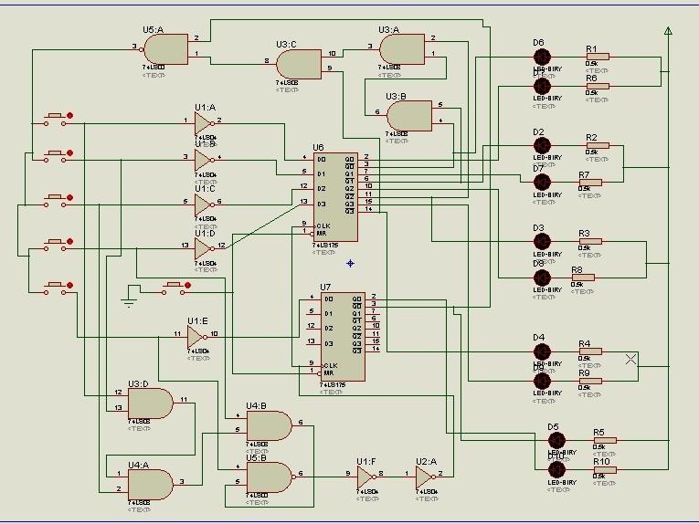 数字电子技术课程设计:八路智力竞赛抢答器的仿真电路