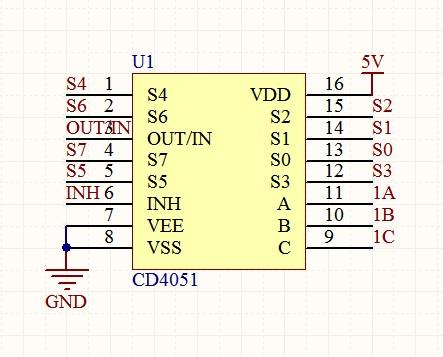 cd4051的电路图