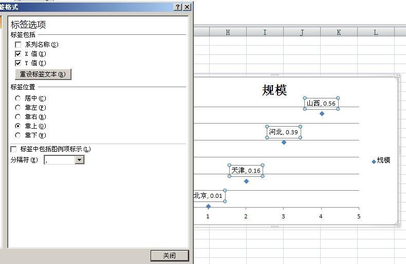 如下,右键标签,设置数据标签格式