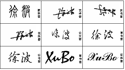 艺术签名设计免费版 我的名字叫徐波,谁能帮我设计个签名,谢谢了!图片