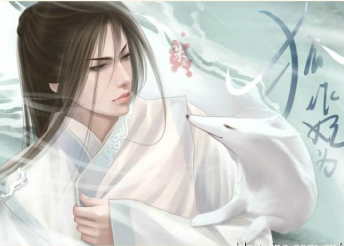 求一张古装手绘白衣公子的图,温文儒雅,柔和,温润如玉