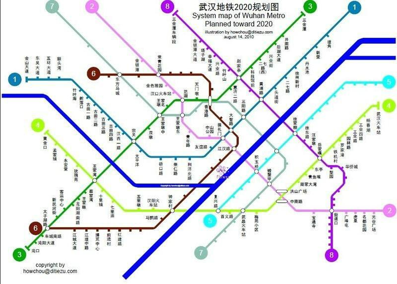 武汉地铁2号线线路图图片