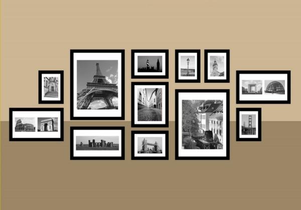 八张照片墙设计图片