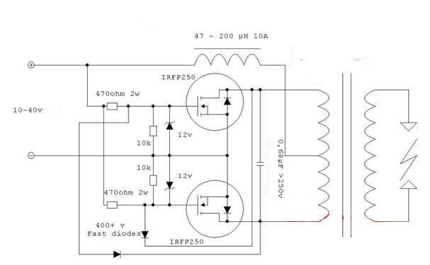 求逆变器12变220v电路图和所用电子元件的参数型号?