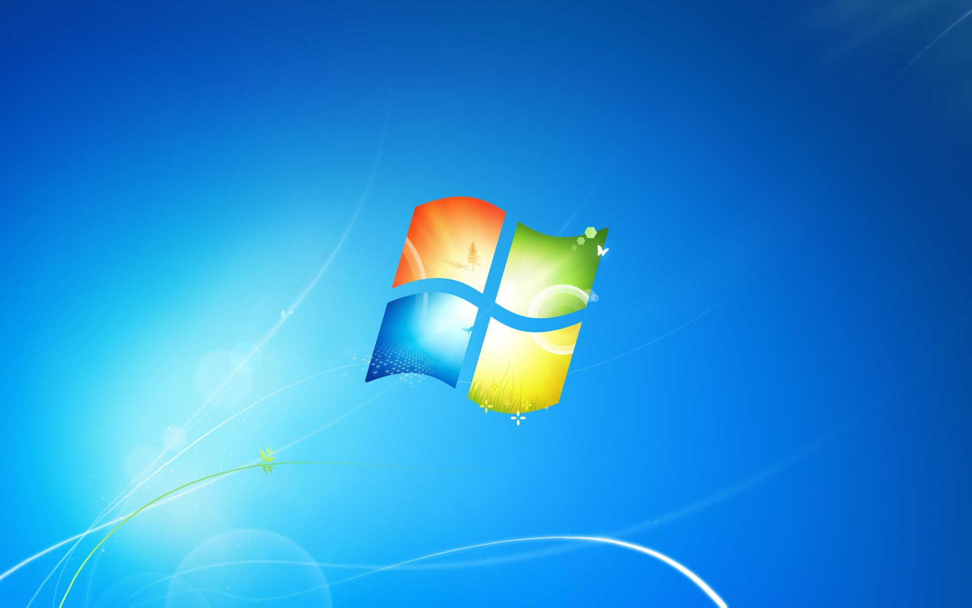请问win7安装完成以后,系统默认的主题,主要是桌面图片在哪里可以下载图片